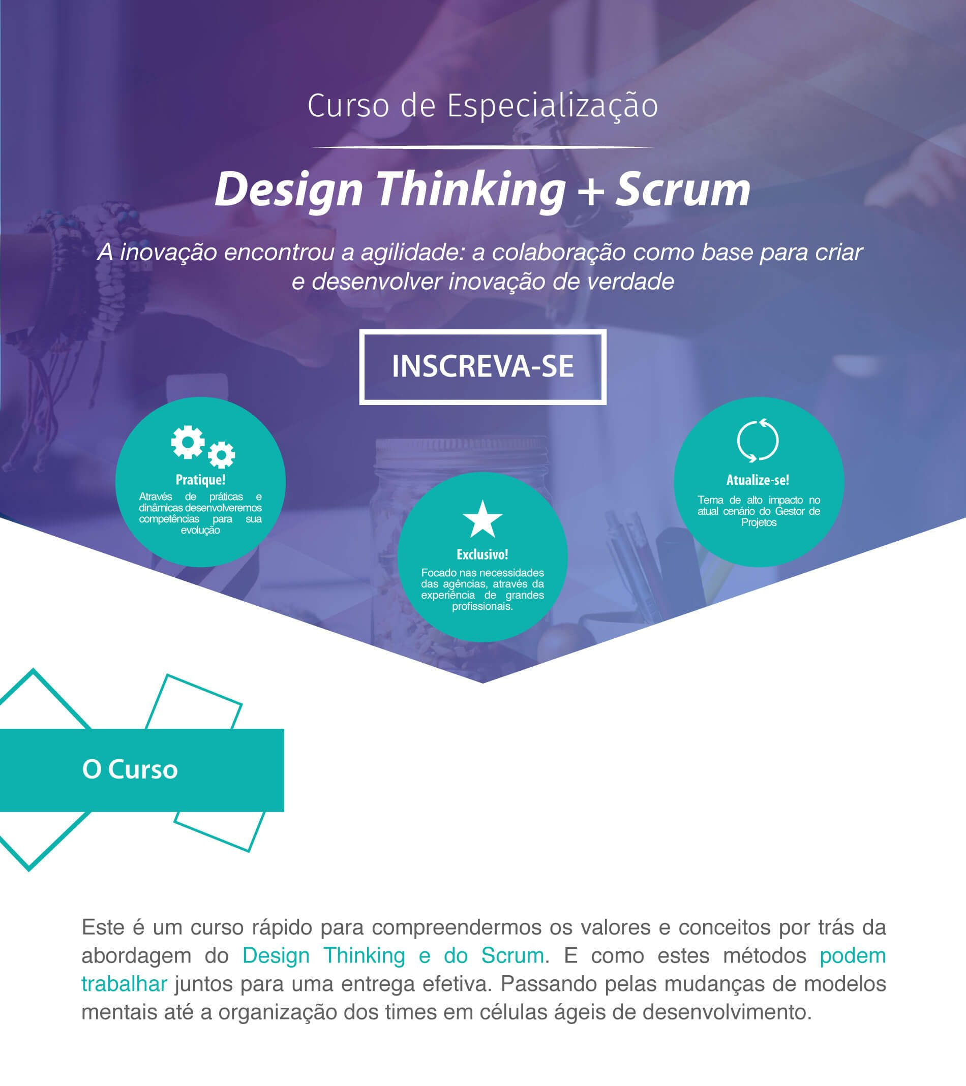 Curso: Design Thinking + Scrum